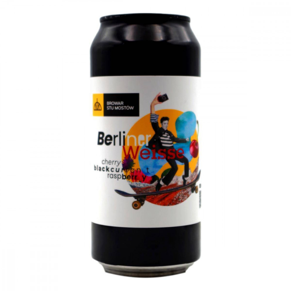 Berliner Weisse Raspberry Blackcurrant Cherry 440ml