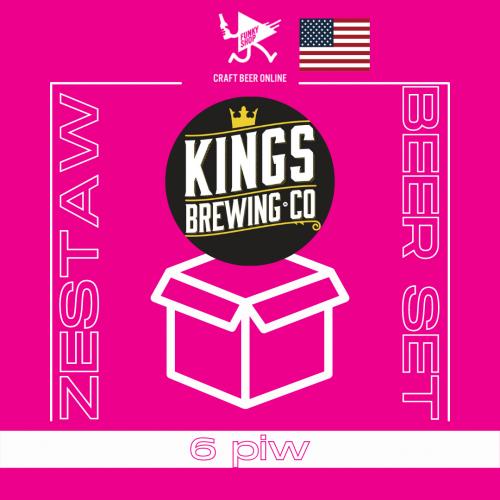 Set of 6 Kings Brewing Co beers